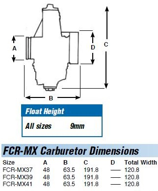 pin only // Diagram Part # 40 Keihin FCR Carburetor Float Pin,