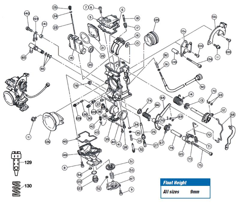 fcr single carb exploded view rh jetsrus com keihin cv carb diagram honda keihin carb diagram